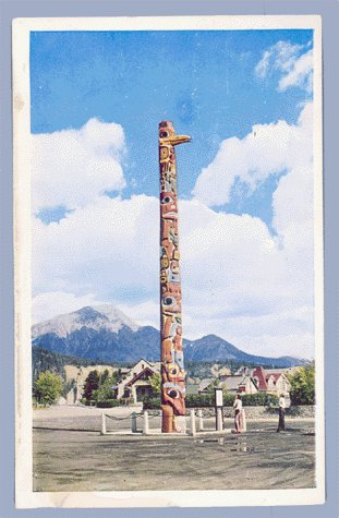 Vintage Postcard TOTEM POLE Jasper Park CANADA