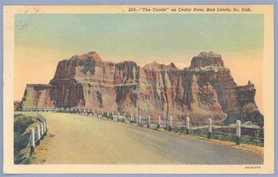 Vintage Postcard THE CASTLE Cedar Pass BADLANDS SD