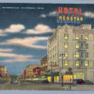 Vintage Postcard WATSONVILLE California HOTEL RESETAR
