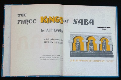 Christmas CHILDRENs Book THREE KINGS OF SABA Helen Sewell