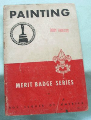 BOY SCOUTS of AMERICA 1940 Merit Badge Booklet PAINTING