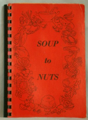 Vintage COMMUNITY COOKBOOK 1968 Soup to Nuts CHURCH