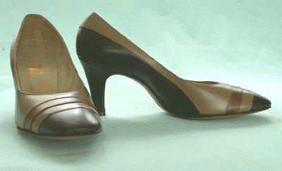 Vintage Multi-banded PUMPS High Heels SHOES