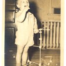 Vintage PHOTO 1940-50s Child with TINKER TOY set