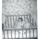 Vintage Photo 1960 TODDLER with DOLLS Doll