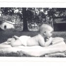 1940s Vintage Photo BABY on a Blanket
