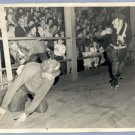 Vintage 1950s ROLLER SKATING ACTION PHOTO