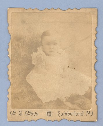 Antique Photo CABINET CARD Infant under Tree by Fence