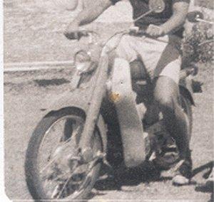 Vintage Photo MOTOR SCOOTER 1950s HONDA