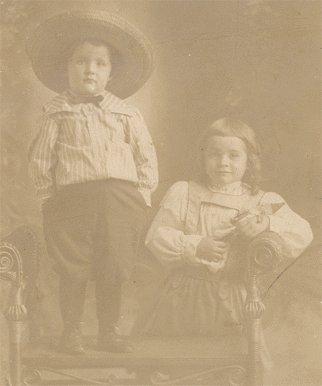 Vintage Real Photo Postcard CROSS-DRESS CHILDREN RP Fix