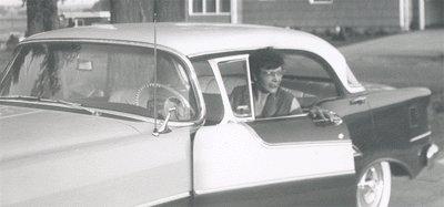 Vintage Photo 1955 OLDSMOBILE HOLIDAY Car HAUSER