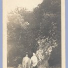 Vintage Photo TWO MEN POSE Natural Scenic Setting