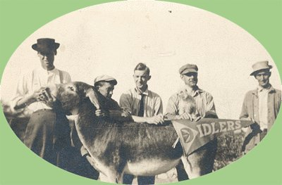 Vintage Photo IDLERS and DONKEY Mule ASS