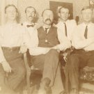 Vintage Photo GROUP OF MEN POSE INDOORS 1910s