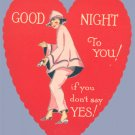 Vintage Valentine GOOD NIGHT TO YOU! 1920s