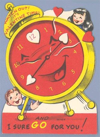 Vintage Valentine ALARM CLOCK Valentine Time