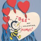 Vintage Valentine BUMBLE BEE My Valentine HONEY