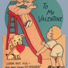 Vintage Valentine SLIDE Fallin for You 1920s/1930s