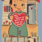 Vintage Valentine CLUB HOUSE You can Join 1940s