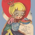 Vintage Valentine CINDERELLA Prince of a Fellow 1920s