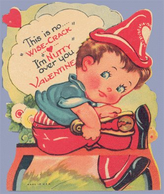 Vintage Valentine CRACKING NUT Wise-Crack NUTTY