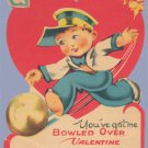 Vintage Valentine BOWLING Bowled Over 1920s/1930s