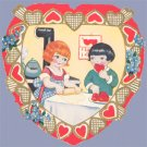 Vintage Valentine WHITNEY MADE Deco HEART Baking