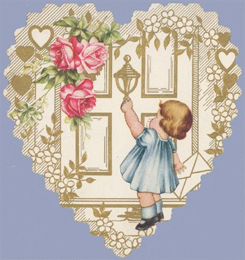 Vintage Valentine WHITNEY MADE Deco HEART at Door