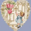 Vintage Valentine WHITNEY MADE Deco HEART at Door