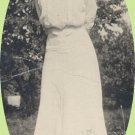 Vintage Photo 1890s/1900s LADY in long WHITE DRESS