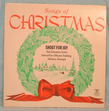 SALVATION ARMY LP Shout for Joy SONGS OF CHRISTMAS