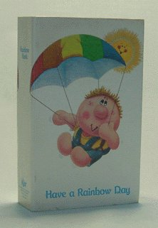 Vintage RUSS BERRIE 1970s Have a RAINBOW day STILL BANK