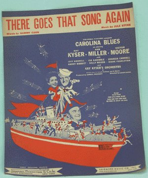 VINTAGE SHEET MUSIC 1944 Carolina Blues ANN MILLER