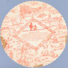 Vintage 1960s HOWARD JOHNSONS Round Picture Paper Placemat