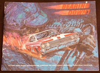 Vintage 1966 BEARING DOWN Race Car/Street RACING Muscle BOOKLET