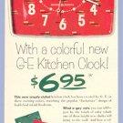 Vintage Advertising 1953 GE Jackstraw KITCHEN CLOCK AD