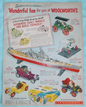 Vintage Advertising WOOLWORTH's AD Model Car REVELL