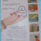 Vintage Advertising 1953 Ad KRENE Bakelite