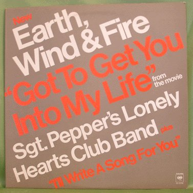"""Earth Wind and Fire GOT TO GET YOU INTO MY LIFE 12"""" Single"""