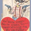 Vintage Valentine 1940s CITY Robber LOADED w/Love GUN