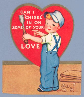 Vintage Valentine 1940s CARPENTER Chisel In WOODWORKING