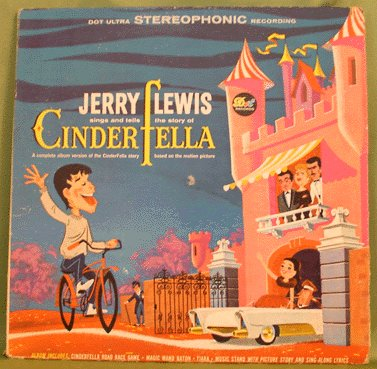 CINDERFELLA Soundtrack LP JERRY LEWIS Stereo 1960