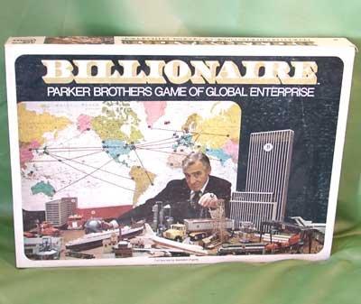 Vintage Billionaire Game PARKER BROTHERS 1973