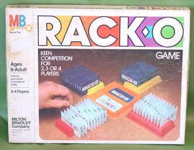 Vintage RACK-O GAME 1980 Milton Bradley