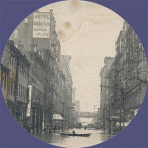 Vintage POSTCARD 1907 Pittsburgh FLOOD Allegheny 6th St