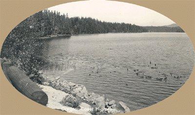 Vintage Postcard SAWYER Woahink Lake OREGON RP Photo
