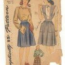 Vintage PATTERN SIMPLICITY 4496 1940s SKIRT Blouse 30b