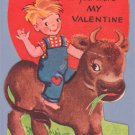 Vintage Valentine 1950s COW I Wouldn't Beef A-MERI-CARD