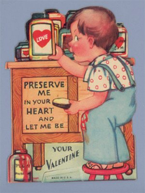 Vintage Valentine 1940s JAM Preserve Me in your Heart