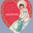 Vintage Valentine 1930s PRETTY LITTLE ESKIMO Igloo